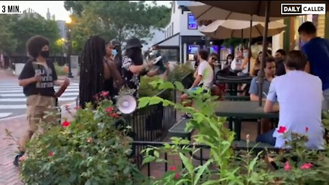 BLM Protestors Act Like Bolsheviks, Yell at Teenagers Eating Ice Cream in Georgetown