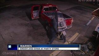 Smash-and-grab at party store