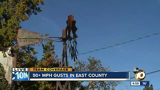 Santa Ana winds bring strong winds to East County