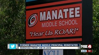 Manatee Middle School Principal reinstated