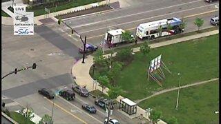 Police respond to crash involving RTA bus