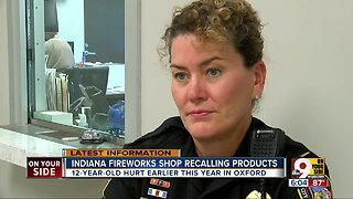 Firework shop recalls products after explosion injuries child