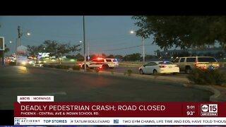 Pedestrian killed in Phoenix crash