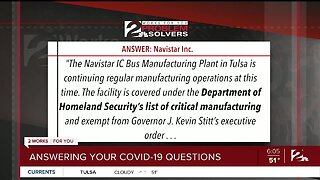 Problem Solvers: Answering Your COVID-19 Questions