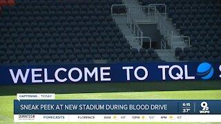 Sneak a peek inside FC Cincinnati's TQL Stadium with Hoxworth Blood Center