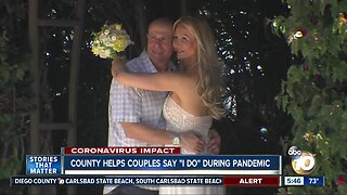 """County helps couples say """"I Do"""" during pandemic"""