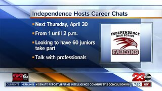 Career chats with students