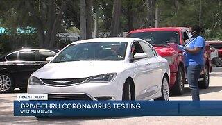Drive-through coronavirus testing underway near West Palm Beach