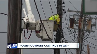 Power outages continue in Western New York