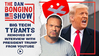 Big Tech Tyrants Removed My Interview With President Trump From Youtube