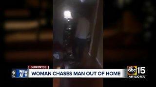Bizarre break-in caught on video in Surprise