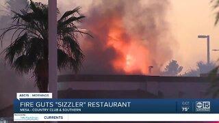 Mesa Sizzler restaurant catches fire