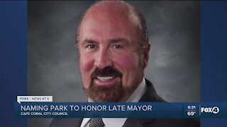 Council voting to name park after late Mayor