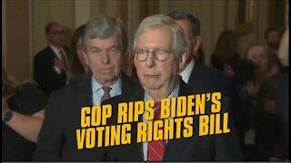 GOP Senate Leadership Rips Joe Biden's Voting Bill