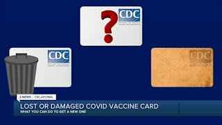 Lost or damaged covid vaccine card