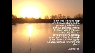 """Daily Devotional -- Jude 1.24-25 """"Our God Is Able"""" Jesus Christ Follower 'Dedicated2Jesus'"""