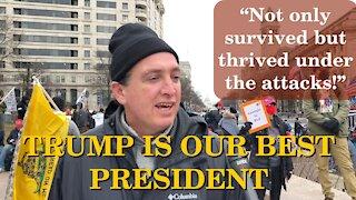 Americans Say! Trump Is The Best Among Reagan & Lincoln | Washington DC | Jan 5, 2021