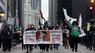 Protests In Chicago After Police Release Adam Toledo Shooting Video
