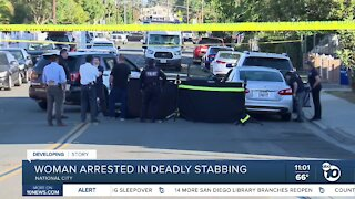 Woman arrested in deadly National City stabbing