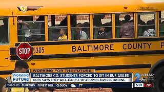 Baltimore County students forced to sit in bus aisles