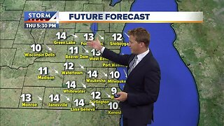 Clouds clear out Thursday afternoon