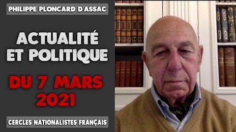 Actualité et politique du 7 mars 2021