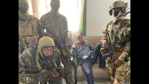 Coup d'État en Guinée Conakry. Alpha Condé a été arrêté