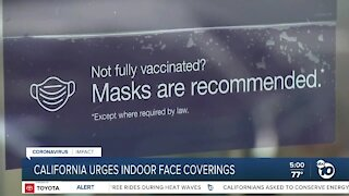 California urges indoor face coverings, will restaurants have to enforce this?
