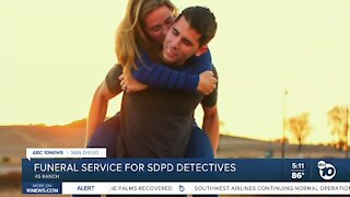 Funeral service for married San Diego Police detectives