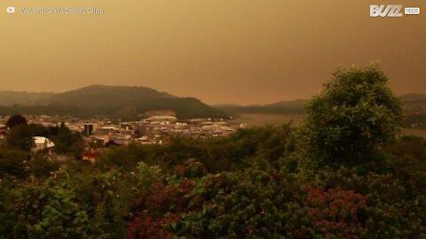 Nova Zelândia atingida por nuvem de fumo australiana
