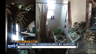 Fire victims overwhelmed by community support