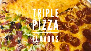 Quick Easy Homemade Triple Pizza Flavors