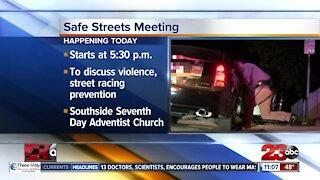 Safe Streets meeting happening tonight