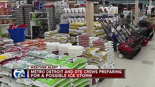 Metro Detroit and DTE crews preparing for possible ice storm
