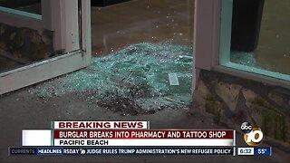 PB tattoo parlor, nearby pharmacy broken into