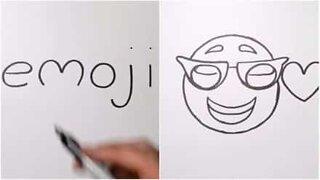 Kunstner gjør ord om til tegninger