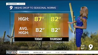 Breezy, dry, and slightly cooler