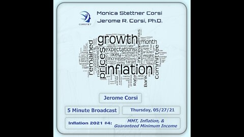 Corstet 5 Minute Overview: Inflation 2021 #4 - MMT, Inflation, & Guaranteed Minimum Income
