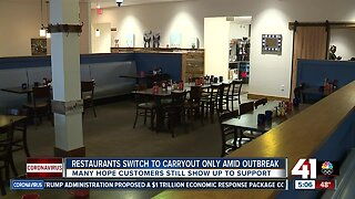 Restaurants switch to carryout only