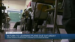 Safely Back to School: Return to learning plans due Saturday