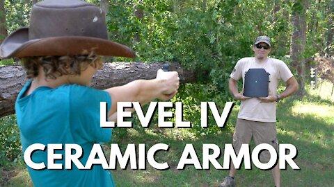 Shooting Level IV Ceramic Armor - MAKE IT CRUMBLE!!!!