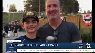 Teen arrested in deadly crash in Poway
