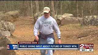 Public giving input on the future of Turkey Mountain