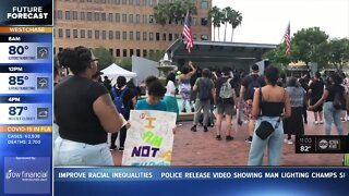 Large protest in Lakeland