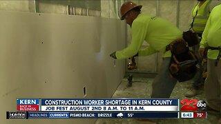 Kern Back In Business: Construction worker shortage in Bakersfield spurs job fair Friday