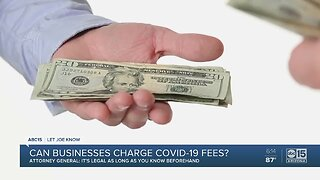 Can businesses charge COVID-19 fees?