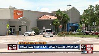 Arrest made after threat to Walmart
