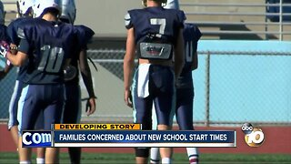 Families concerned about new school start times