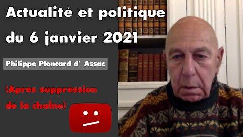 Actualité et politique du 6 janvier 2021