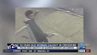 72-year-old woman caught in the crossfire